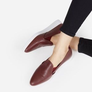 Everlane street shoe sneaker in oxblood